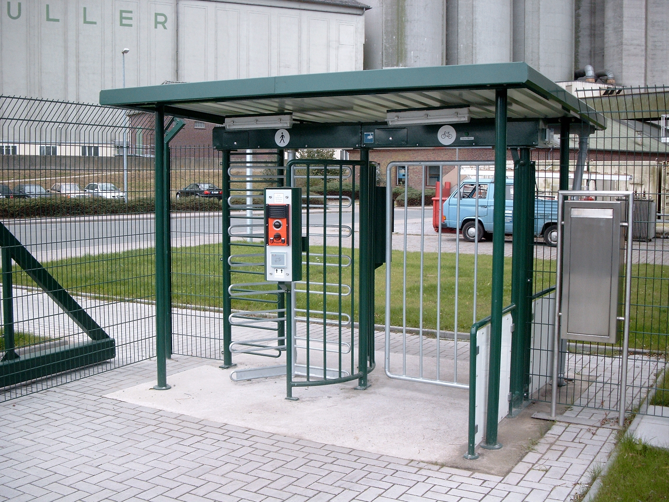 Turnstile with Custom Gate and Enclosure