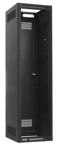 "ENCLOSED RACK DESCRIPTIONDescription:19"" EIA rack with welded sides and recessed rear door"
